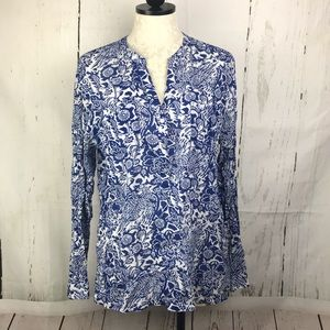 Old Navy Sheer Button Down Floral Blouse